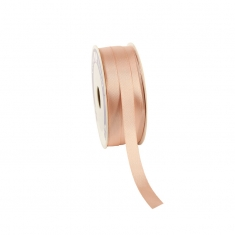 Pale pink satin-finish ribbon 12mm x 100m