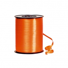Plain orange gift curling ribbon