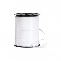 Plain white gift curling ribbon