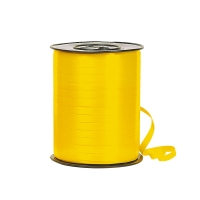 Plain yellow gift curling ribbon