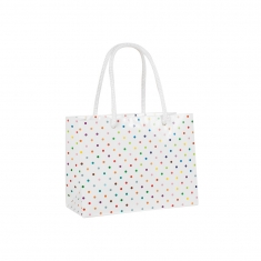 Polkadot glossy paper carrier bag