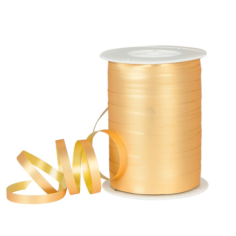 Powder finish gold coloured gift curling ribbon