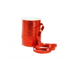 Red mirror finish striated gift curling ribbon