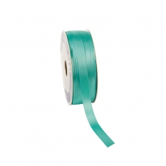 Sea-green satin-finish ribbon 12mm x 100m
