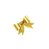 Self-adhesive gold bows 5.5cm