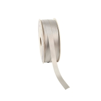Silver satin-finish ribbon