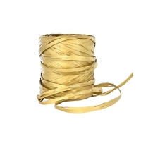 Gold colour raffia gift ribbon