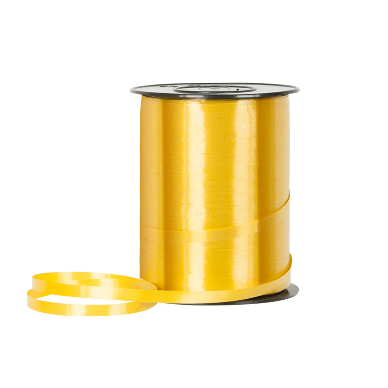 Gold coloured gift curling ribbon