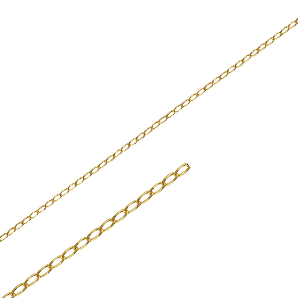 Gold coloured metal chain sold by the metre
