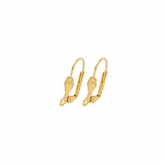 Gold plated continental lever back ear wires