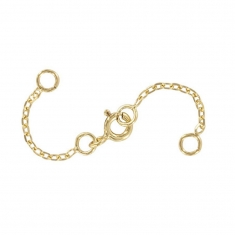 Gold plated double safety chain