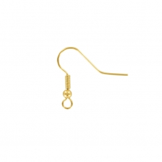 Gold plated ear hooks