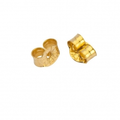 Gold plated ear scrolls