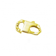 Gold plated open bracelet clasps