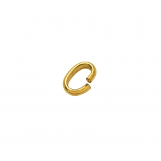 Gold plated oval jump rings: flat inside