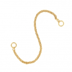 Gold plated safety chain wires