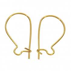 Gold plated safety ear wires