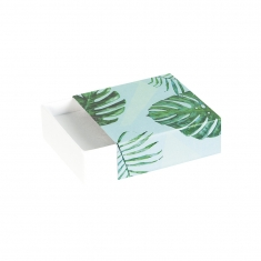 Green jungle print matchbox style universal trinket box