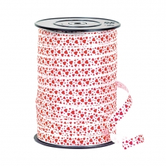 Heart print gift ribbon