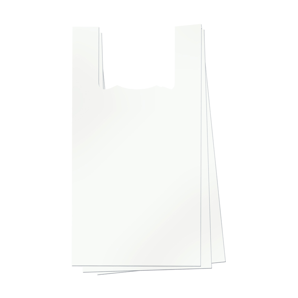 Heavy duty reusable plastic bags with handles - 50 microns