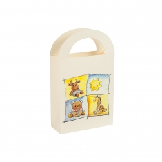 Infant collection card stand-up bag with handles