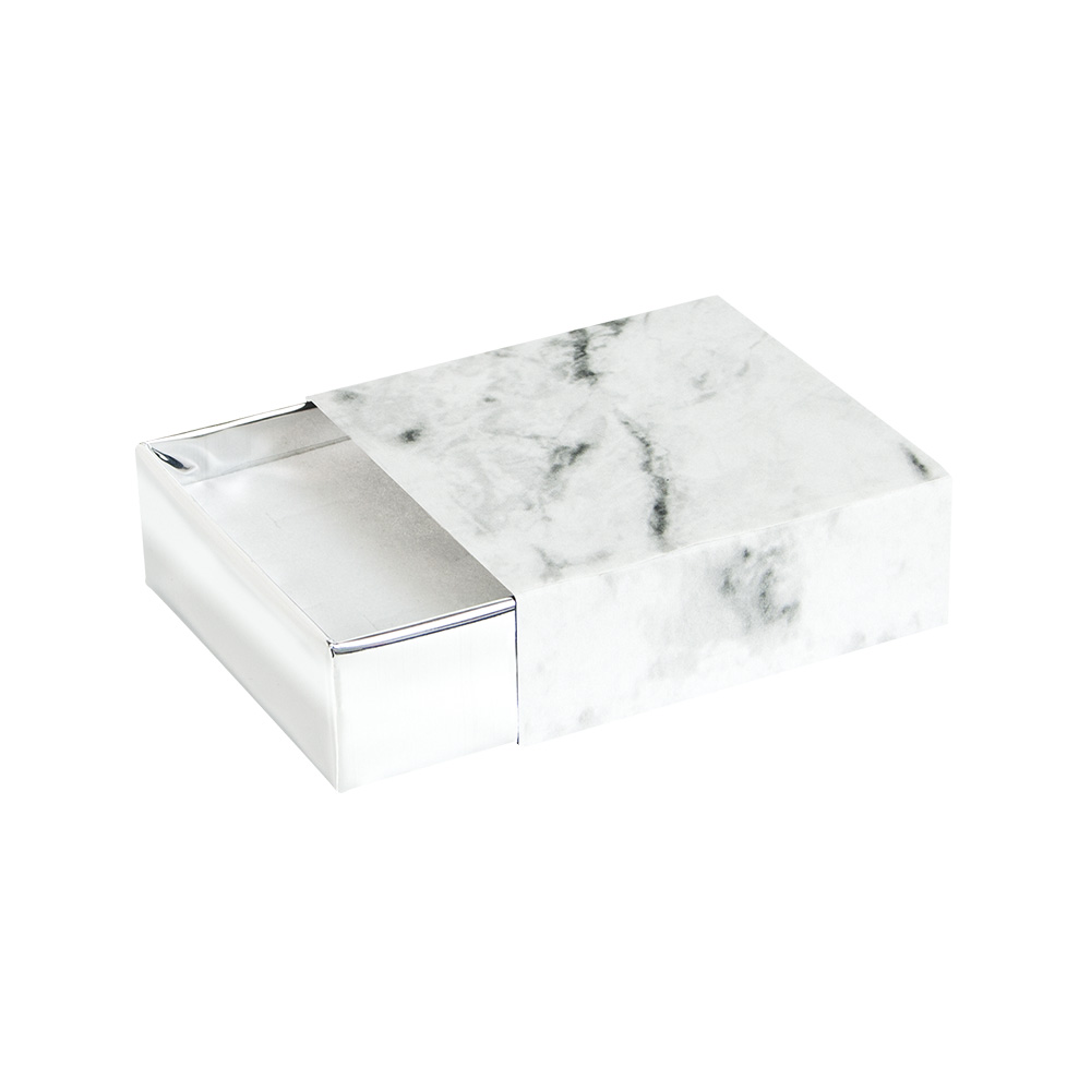 'White marble' card matchbox style universal trinket box