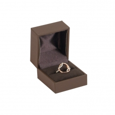 Black soft touch man-made leatherette jewellery presentation boxes