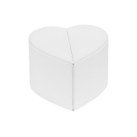Heart-shaped ring box in smooth-finish man-made leatherette