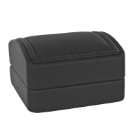 Imitation kidskin finish leatherette jewellery presentation boxes with topstitching