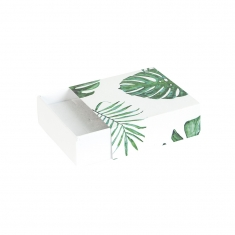 Jungle print card matchbox style trinket box