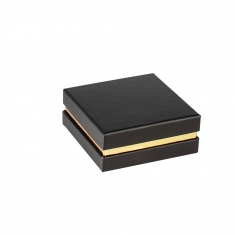Matt finish card jewellery presentation boxes with shiny metallic contrast