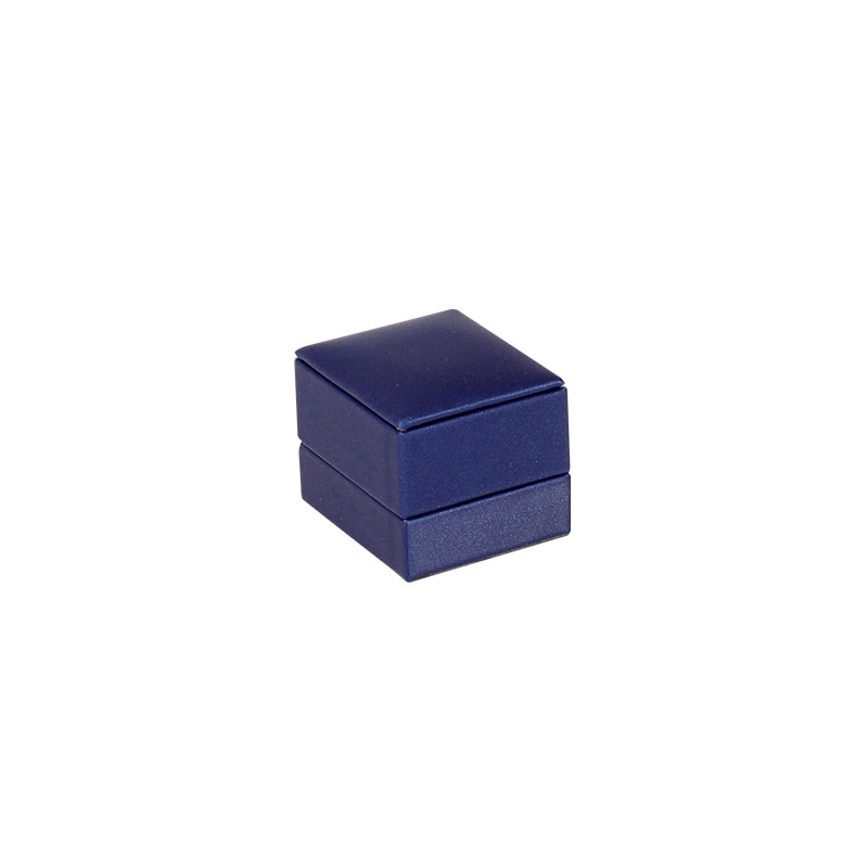 Navy blue man-made fabric finish jewellery presentation boxes