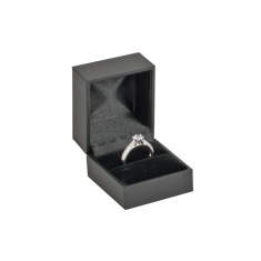 Soft touch man-made leatherette jewellery presentation boxes