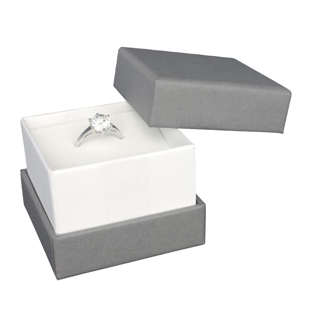 Two tone matt card jewellery presentation box