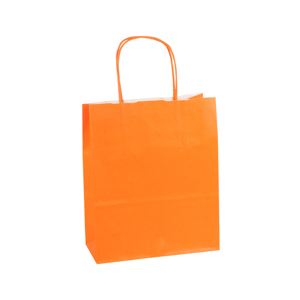 Kraft paper carrier bags with twisted handles