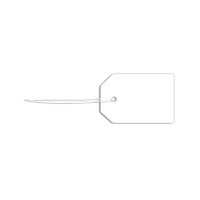 Blank strung card label - 1.9 x 2.8cm