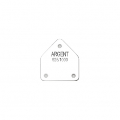 Earring display labels in sheets - with French inscription ARGENT 925/1000