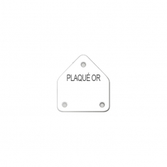 Earring display labels in sheets - with French inscription PLAQUE OR