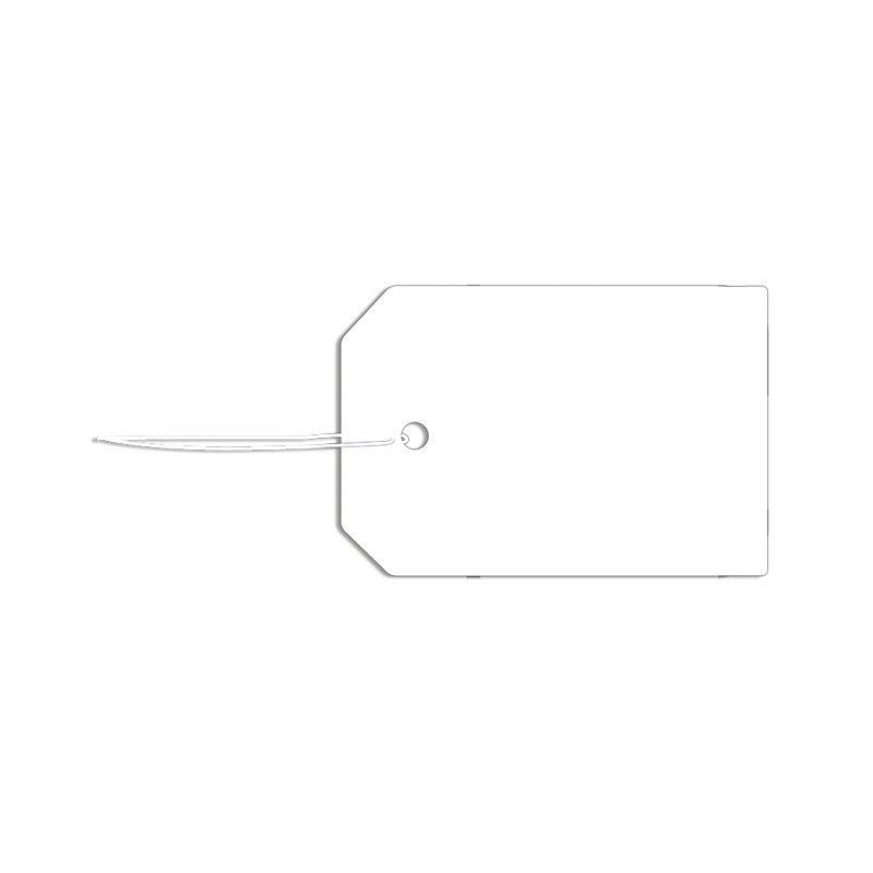 Large blank strung card label - 3.1 x 4.5cm