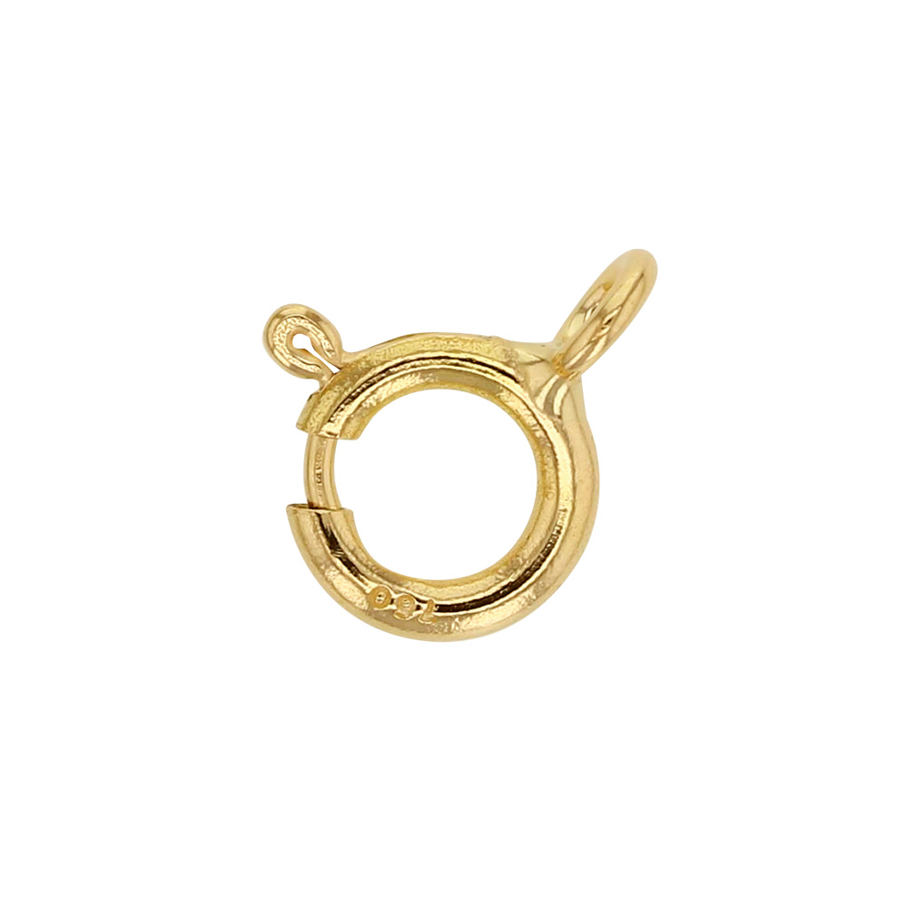 Lightweight 18 ct gold bolt ring clasp, 7mm