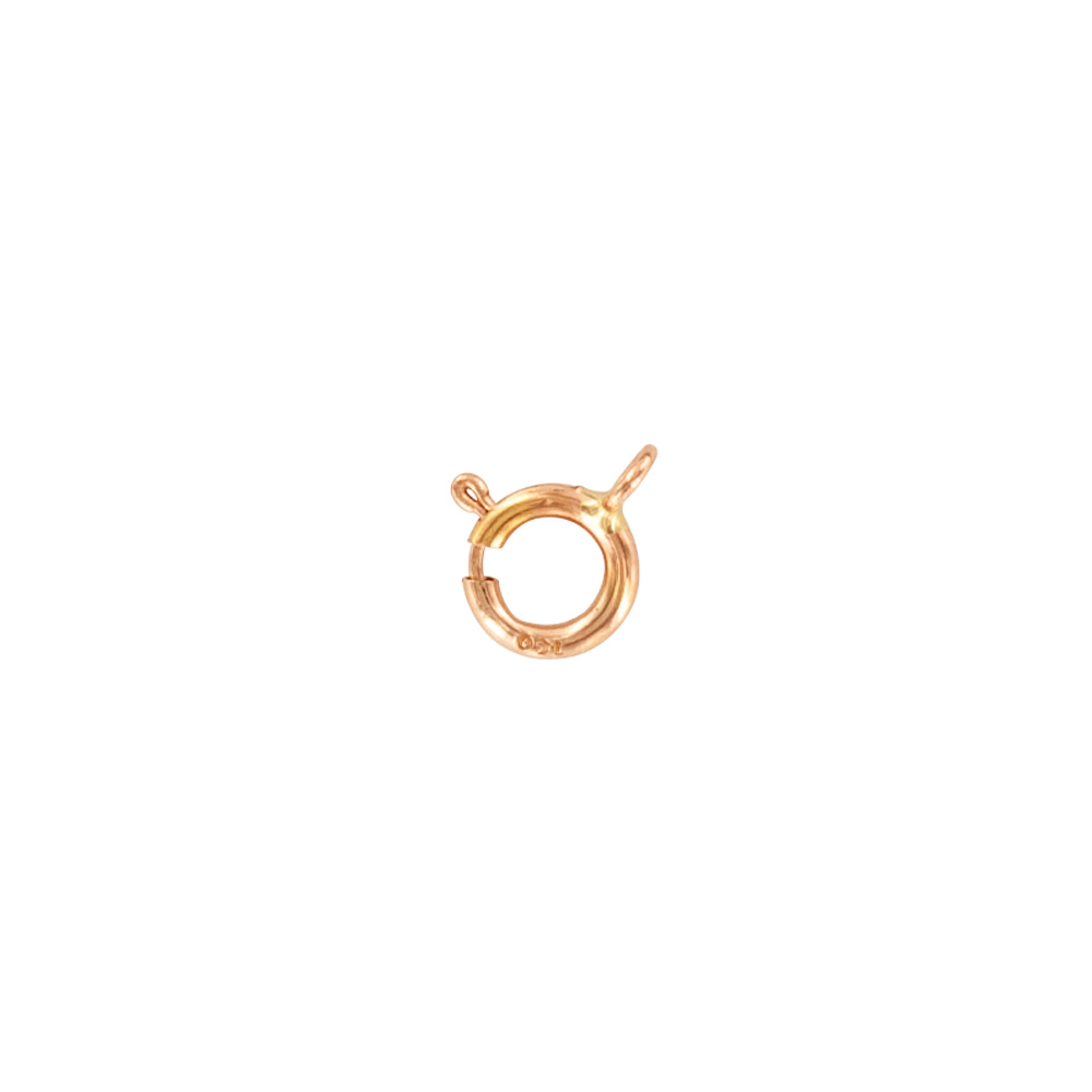 Lightweight 18ct red gold bolt ring 5mm