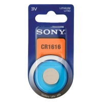 Lithium CR1616 Sony button cell battery - in individual blister