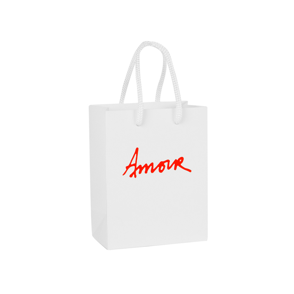 Love / Amour luxury matt paper carrier bag