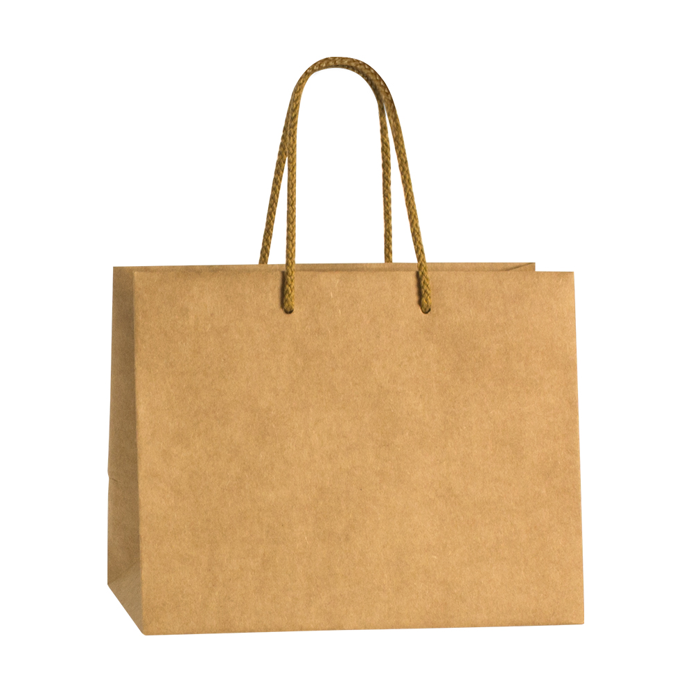 Luxury kraft paper boutique bag with cotton cord handles - 200g