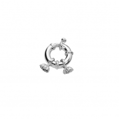 Mariner\\\'s jumbo bolt ring for pearl necklaces with two cups