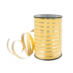 Matt and glossy gold coloured gift curling ribbon