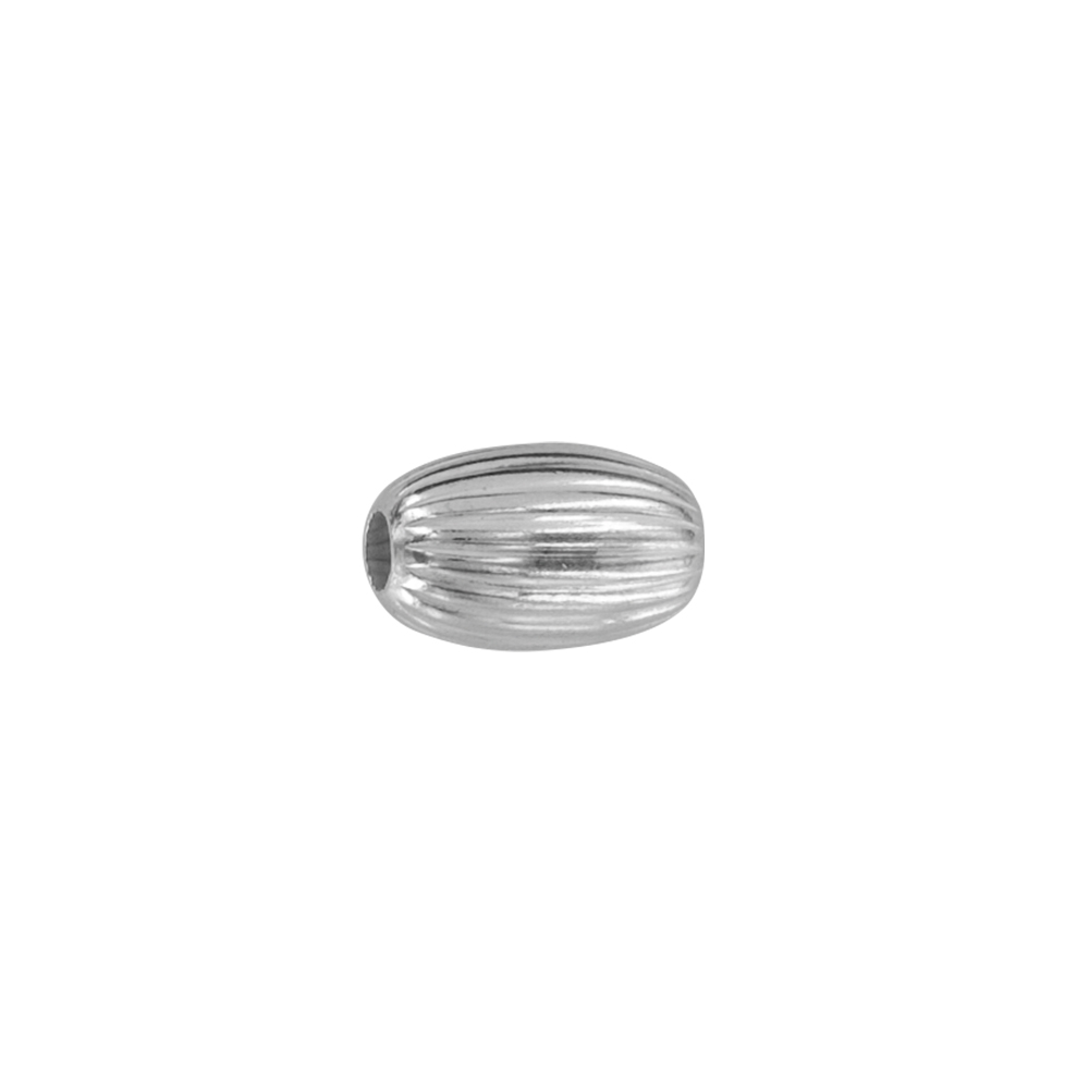 Oval sterling silver spacer beads