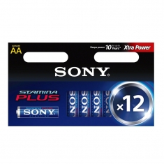 Pack of 12 Sony LR6 stamina plus batteries