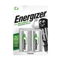Pack of 2 Energizer HR14 rechargeable D batteries