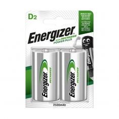 Pack of 2 Energizer HR20 rechargeable batteries
